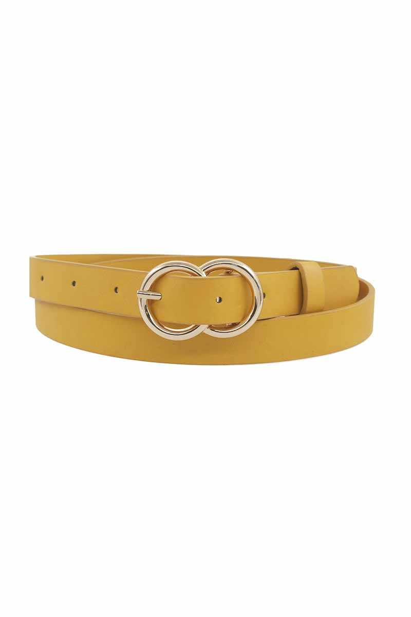 Loop Through Infinity Buckle Skinny Belt