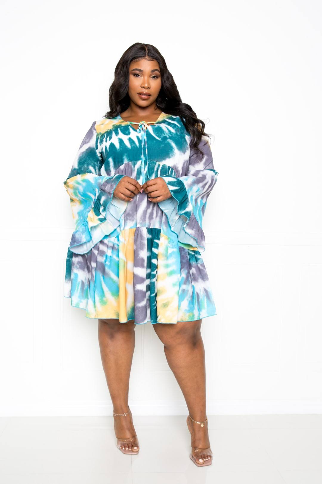 Tie Dye Tunic Dress - Fashion Quality Boutik