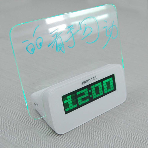 Multifunctional LED Memo Board Alarm Clock