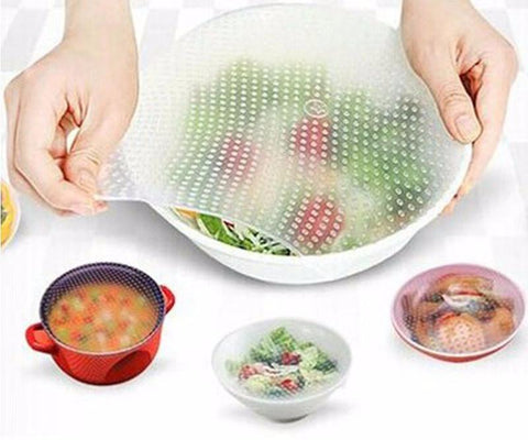 8 pcs Set - Stretchable Silicone Kitchen & Food Wrap - (50% OFF)
