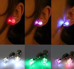 Stainless Steel Led Ear Light Up Studs