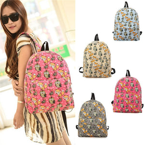Owl Print Backpack