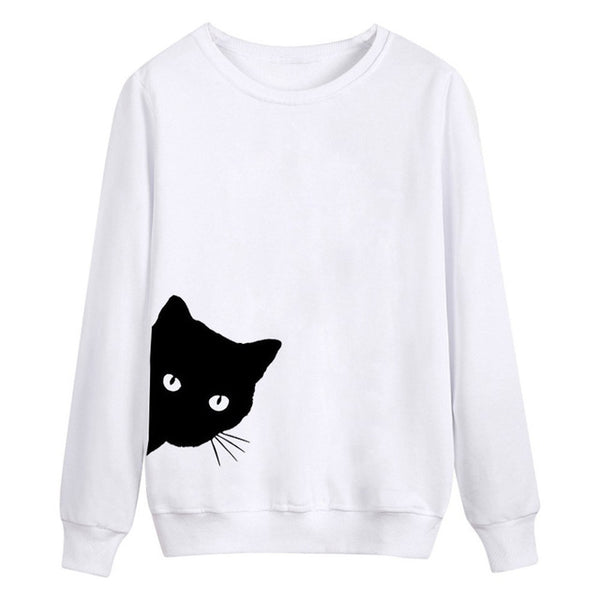 Peeking Cat Sweatshirt