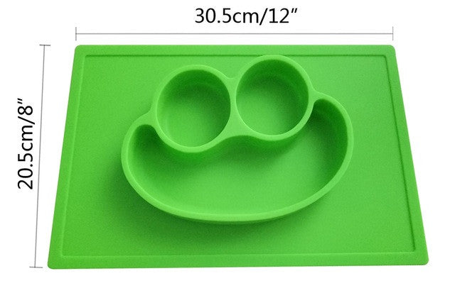 Silicone Place Mat For Kids - ALL-IN-ONE