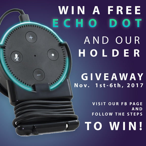 GIVEAWAY! Win an Amazon Echo Dot + an Echo Dot Holder with Cord Wrap | Storage Theory
