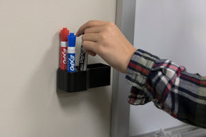 White Board Marker and Eraser Holder (Markers Not Included)