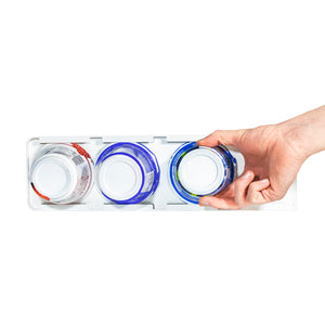 Sliding Greek Yogurt Refrigerator Organizer (Peel & Stick)