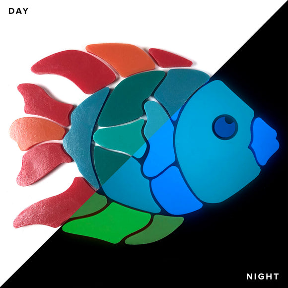 Angel Fish Glow in the Dark Mosaic
