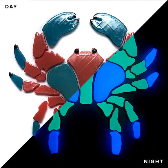 Crab Glow in the Dark Swimming Pool Mosaic