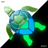 Swimming Turtle Glow in the Dark Mosaic