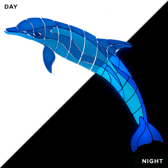 Jumpin' Dolphin Glow in the Dark Pool Mosaic