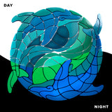 Yin Yang Dolphins Glow in the Dark Pool Mosaic