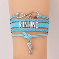 Love Running Infinity Wristband