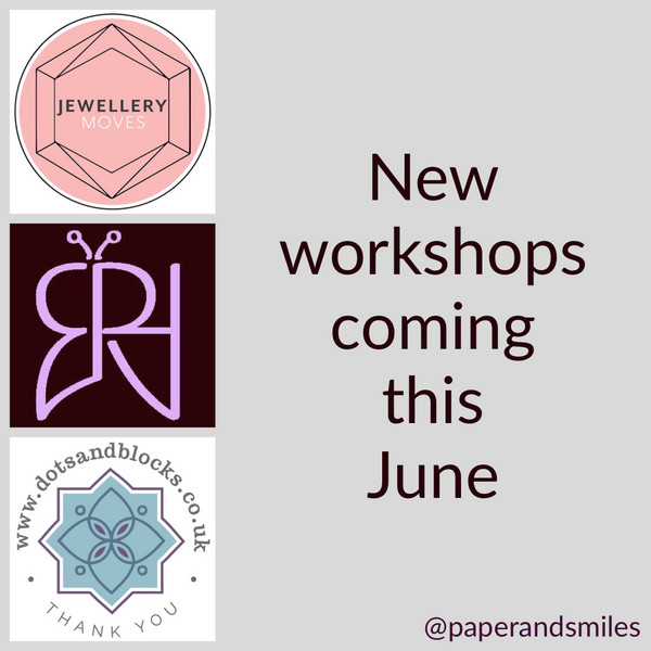 New creatives coming to host workshops in June!