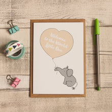 Welcome to the World Little One Card - Elephant & Balloon