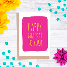 Colour Pop Birthday Card