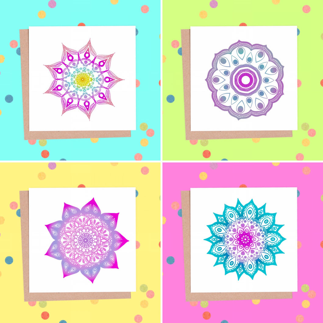 Mandala Greeting Card Set - 8 Cards