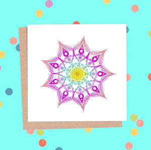 Mandala Greeting Card - Mandala #4