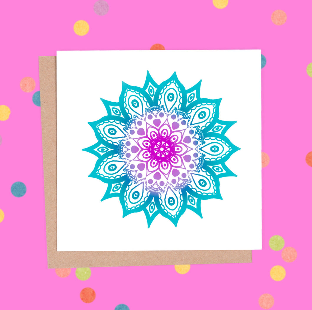 Mandala Greeting Card - Mandala #1