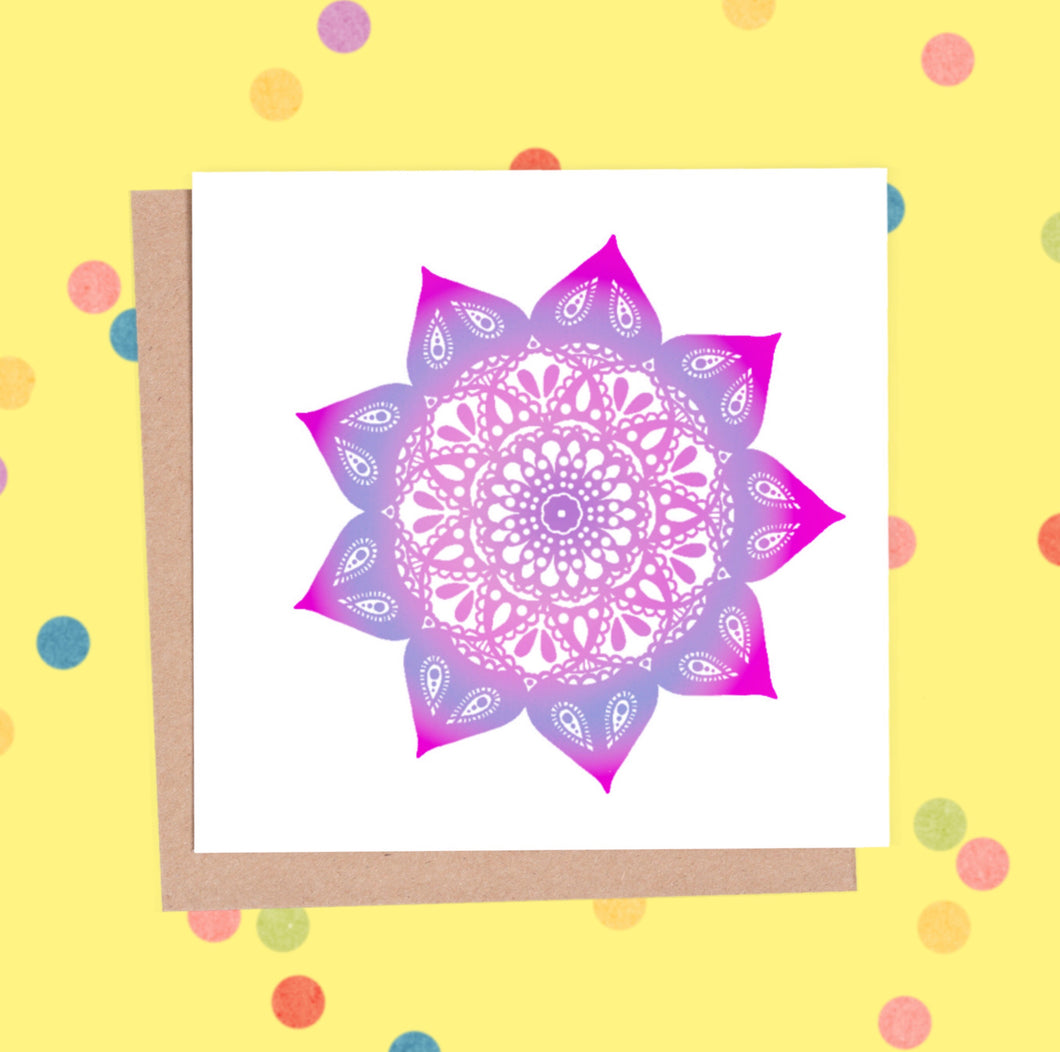 Mandala Greeting Card - Mandala #3