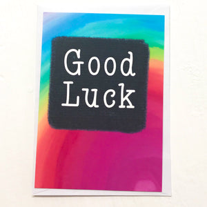 Good Luck - A6 postcard
