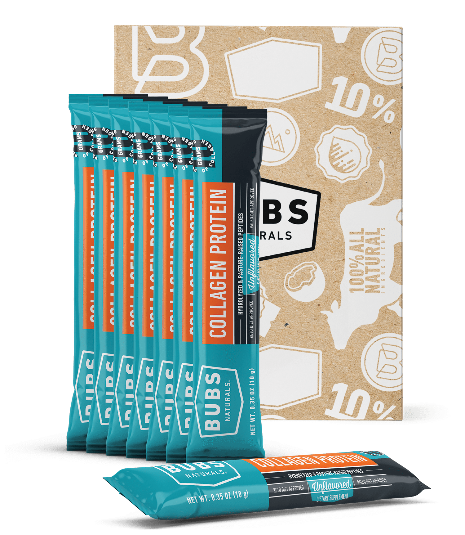 BUBS Naturals Collagen Protein Powder Sampler Pack, 7ct