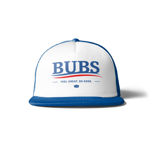 "BUBS Bernt Trucker Snapback Hat ""Feel Great. Do Good."""