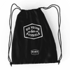 Black Drawstring Bag Black BUBS NATURALS
