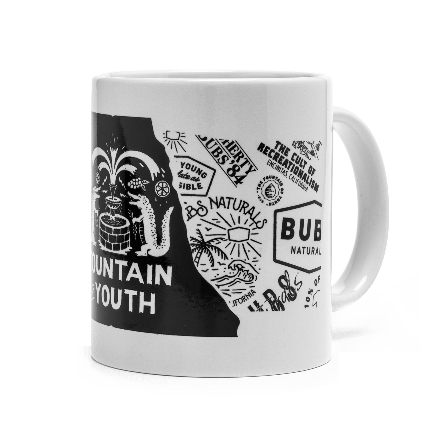 Fountain of Youth Diner Mug BUBS NATURALS