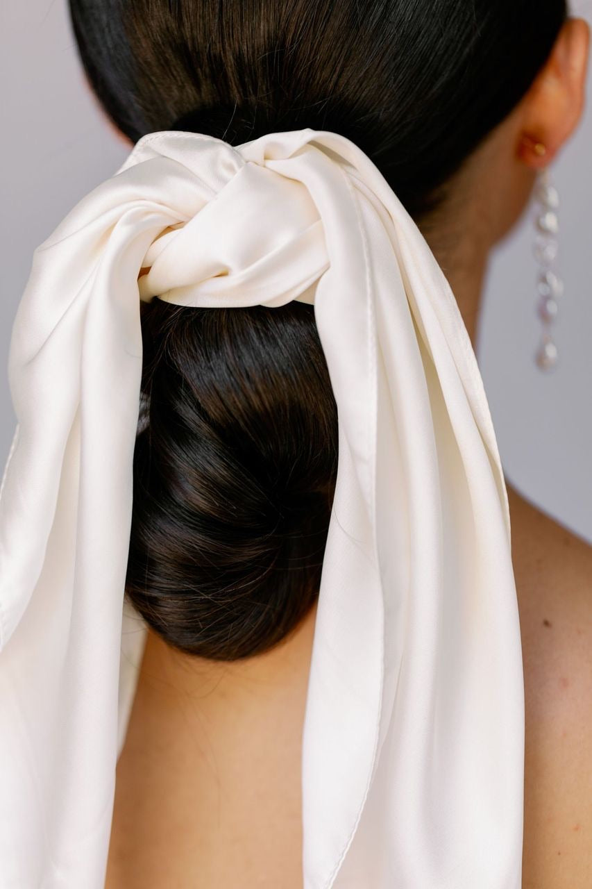 Mulberry silk hair scarf