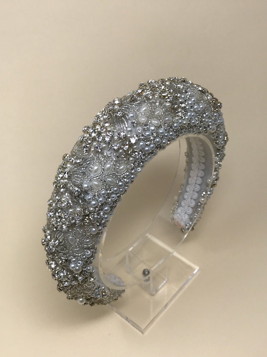 Encrusted statement headband