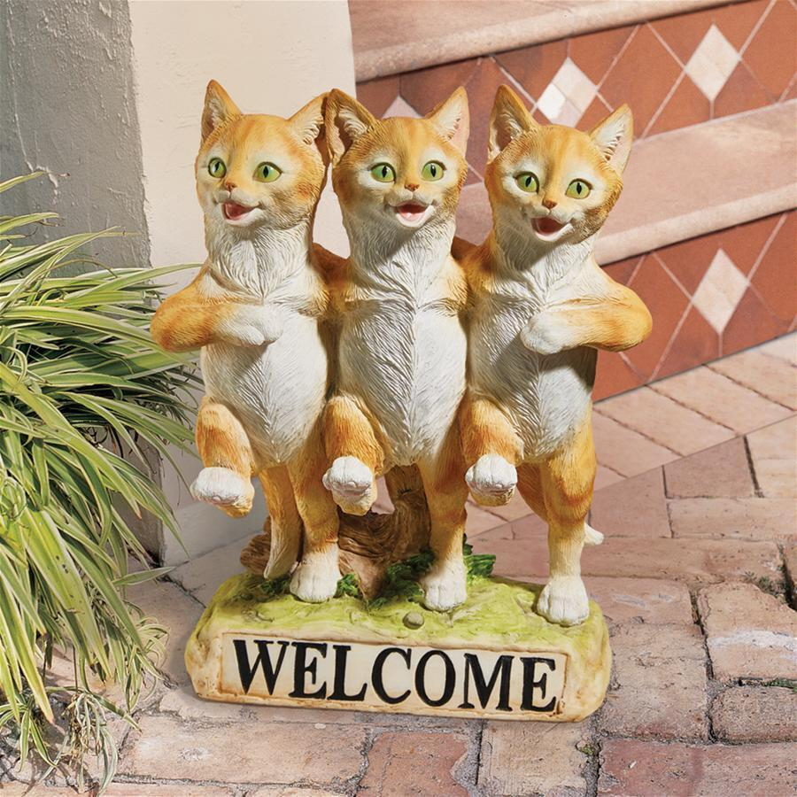 Chorus Line of Cats Garden Welcome Statue | Lily Lane Shop