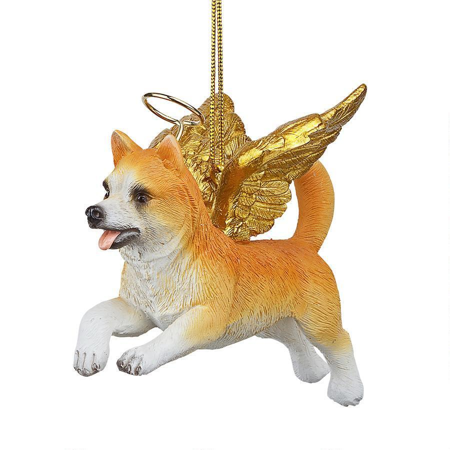 welsh corgi holiday dog angel ornament - Corgi Christmas Ornaments
