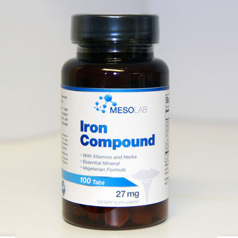 Iron Compound Mesolab 100ct 27mg tablets