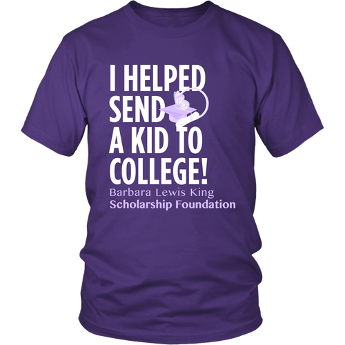 I helped send a kid to college!