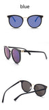 Retro Cat Eye Mirror Sunglasses
