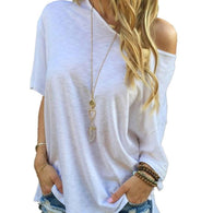 Fashion White Cotton Short Sleeve Tee