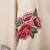 Rosie Off Shoulder Floral Embroidery Blouse