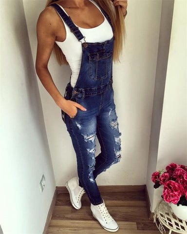 Femme Denim Overalls Sexy Jeans