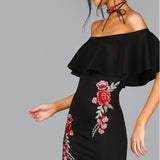 Rovie Summer Black Dress