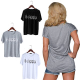 Fashion Happy Print Tee