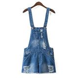 Jumpsuit Denim Overall Shorts