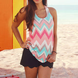 Fashion Sleeveless Zag Tank Top