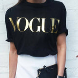Summer VOGUE Gold Shining Tee