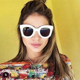 Fashion Big Frame Rivet Shades