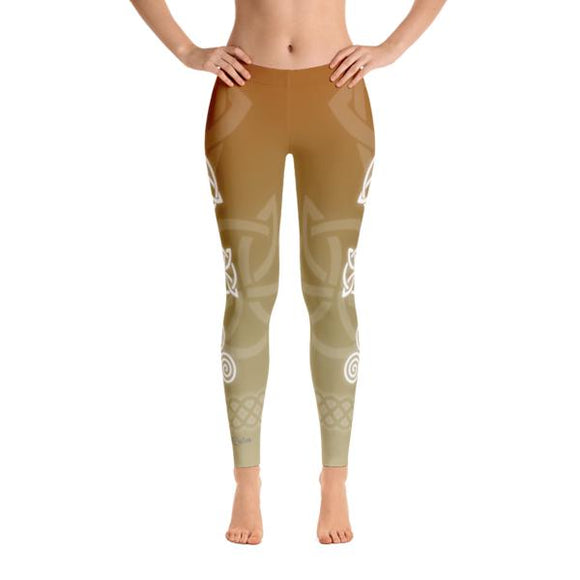 Celtic Autumn Yoga Pants-Flower of Living