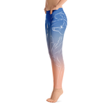 Wolf Spirit Animal Yoga Pants-Flower of Living