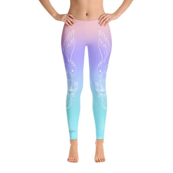 Hummingbird Spirit Animal Yoga Pants-Flower of Living
