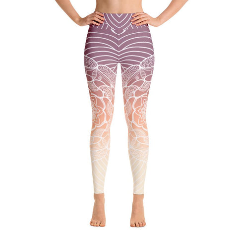 Heavenly Skies Mandala High Waist Yoga Pants-Flower of Living