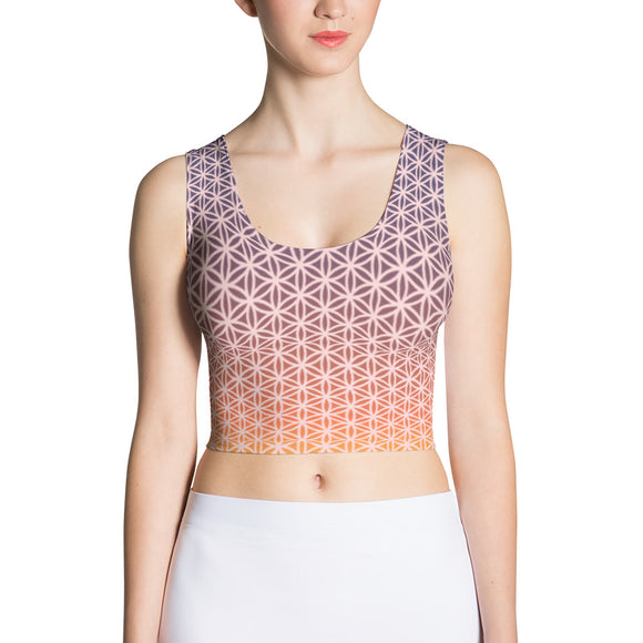 Dusk Revival Sublimation Crop Top-Flower of Living